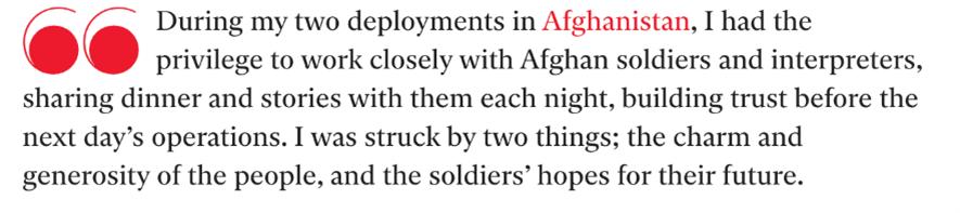 Mike Crofts deployment in Afgansistan